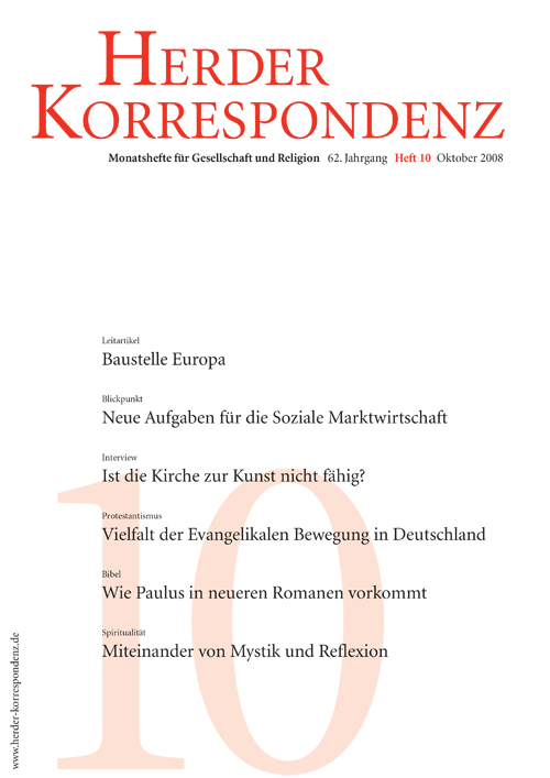 Herder Korrespondenz. Monatsheft für Gesellschaft und Religion 62 (2008) Heft 10