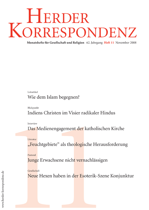 Herder Korrespondenz. Monatsheft für Gesellschaft und Religion 62 (2008) Heft 11