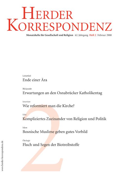 Herder Korrespondenz. Monatsheft für Gesellschaft und Religion 62 (2008) Heft 2