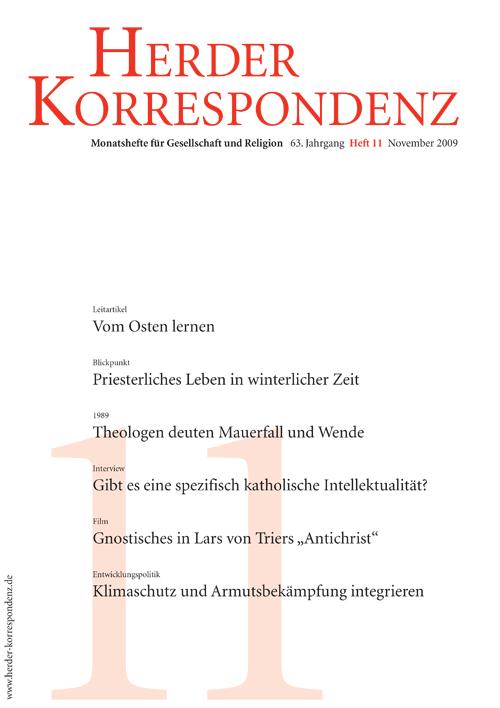 Herder Korrespondenz. Monatsheft für Gesellschaft und Religion 63 (2009) Heft 11