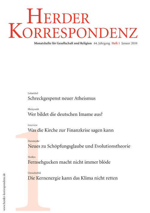 Herder Korrespondenz. Monatsheft für Gesellschaft und Religion 64 (2010) Heft 1