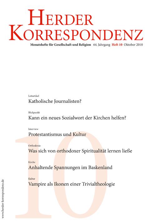 Herder Korrespondenz. Monatsheft für Gesellschaft und Religion 64 (2010) Heft 10