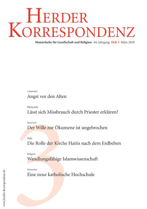 Herder Korrespondenz. Monatsheft für Gesellschaft und Religion 64 (2010) Heft 3