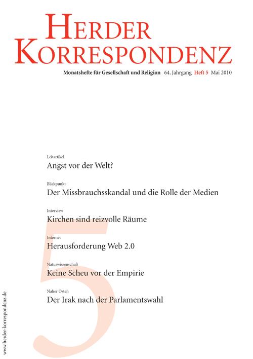Herder Korrespondenz. Monatsheft für Gesellschaft und Religion 64 (2010) Heft 5