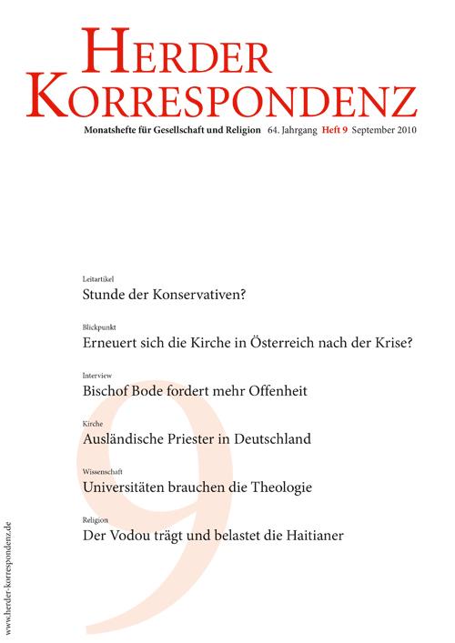 Herder Korrespondenz. Monatsheft für Gesellschaft und Religion 64 (2010) Heft 9