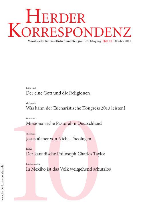 Herder Korrespondenz. Monatsheft für Gesellschaft und Religion 65 (2011) Heft 10