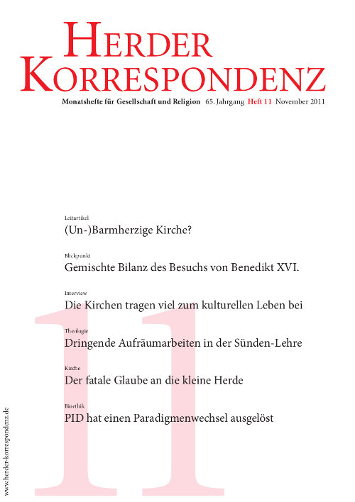 Herder Korrespondenz. Monatsheft für Gesellschaft und Religion 65 (2011) Heft 11