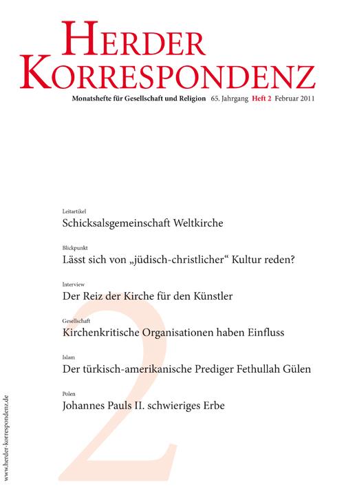 Herder Korrespondenz. Monatsheft für Gesellschaft und Religion 65 (2011) Heft 2