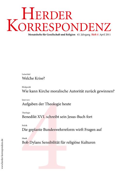 Herder Korrespondenz. Monatsheft für Gesellschaft und Religion 65 (2011) Heft 4