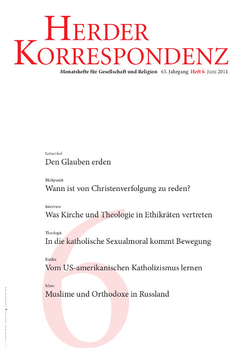 Herder Korrespondenz. Monatsheft für Gesellschaft und Religion 65 (2011) Heft 6