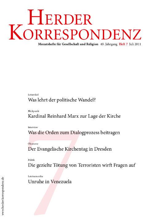 Herder Korrespondenz. Monatsheft für Gesellschaft und Religion 65 (2011) Heft 7