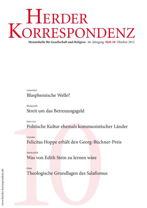Herder Korrespondenz. Monatsheft für Gesellschaft und Religion 66 (2012) Heft 10