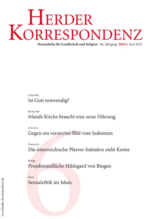 Herder Korrespondenz. Monatsheft für Gesellschaft und Religion 66 (2012) Heft 6