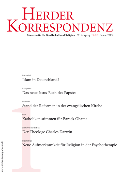Herder Korrespondenz. Monatsheft für Gesellschaft und Religion 67 (2013) Heft 1