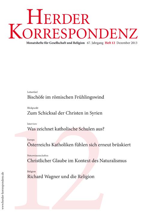 Herder Korrespondenz. Monatsheft für Gesellschaft und Religion 67 (2013) Heft 12
