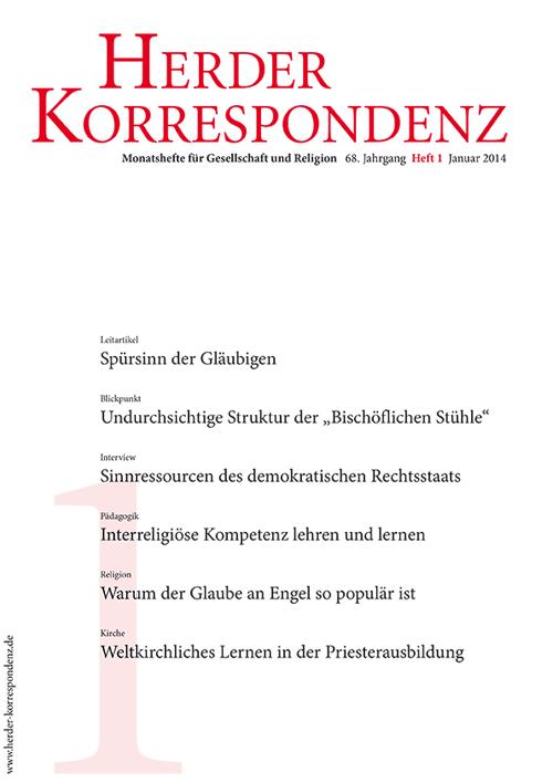 Herder Korrespondenz. Monatsheft für Gesellschaft und Religion 68 (2014) Heft 1