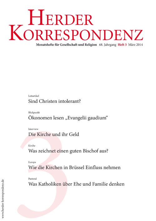 Herder Korrespondenz. Monatsheft für Gesellschaft und Religion 68 (2014) Heft 3