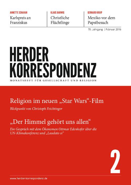 Herder Korrespondenz. Monatsheft für Gesellschaft und Religion 70 (2016) Heft 2