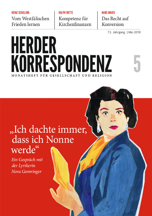 Herder Korrespondenz. Monatsheft für Gesellschaft und Religion 72 (2018) Heft 5