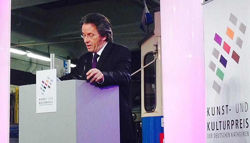 Ralf Rothmann bei der Verleihung des Kunst- und Kulturpreises