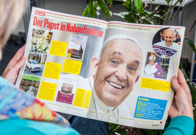 Papst Franziskus im neuen Fanmagazin