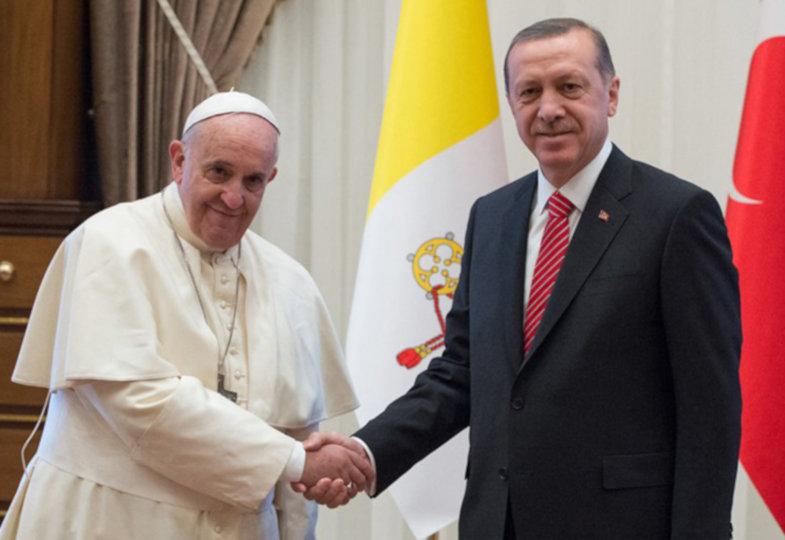 Papst Franziskus und Recep Tayyip Erdogan