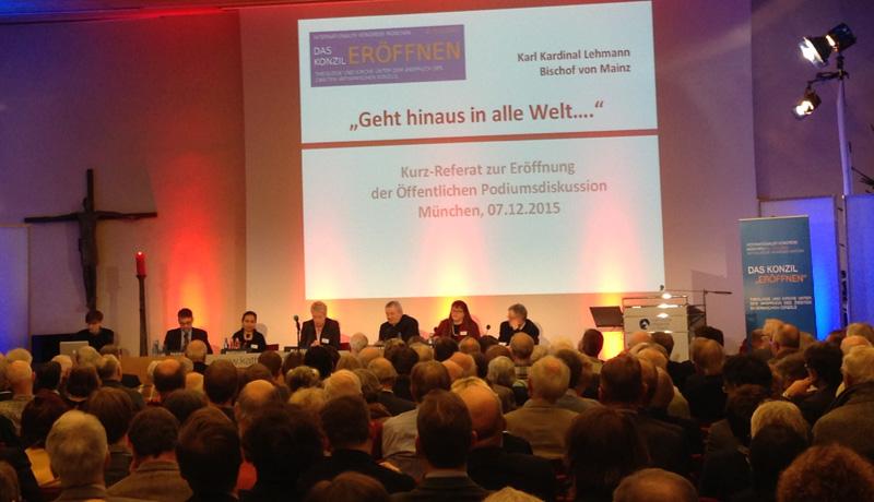 """Podiumsdiskussion auf der Veranstaltung """"Das Konzil ,eröffnen'"""" vom 6. bis zum 8. Dezember in München"""