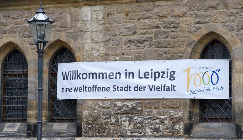 Leipzig Nikolaikirche weltoffene Stadt Rechte in Sachsen