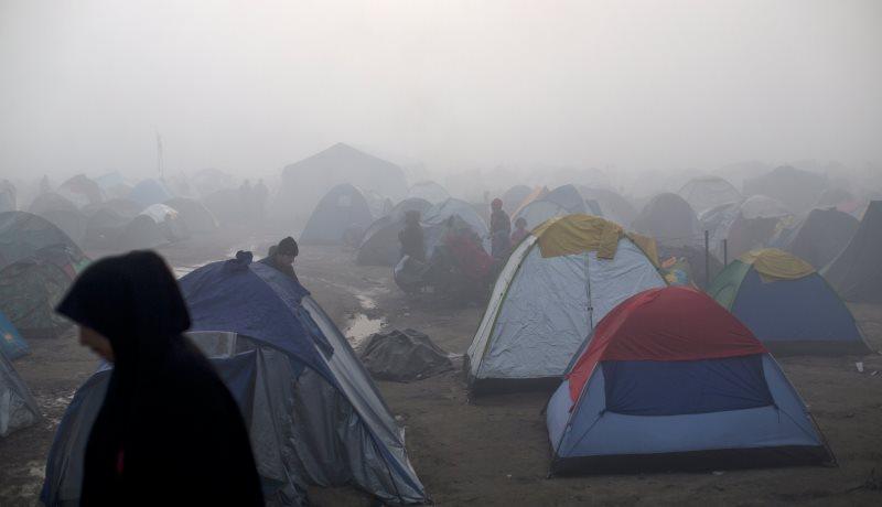 Flüchtlinge an der Grenze zu Mazedonien