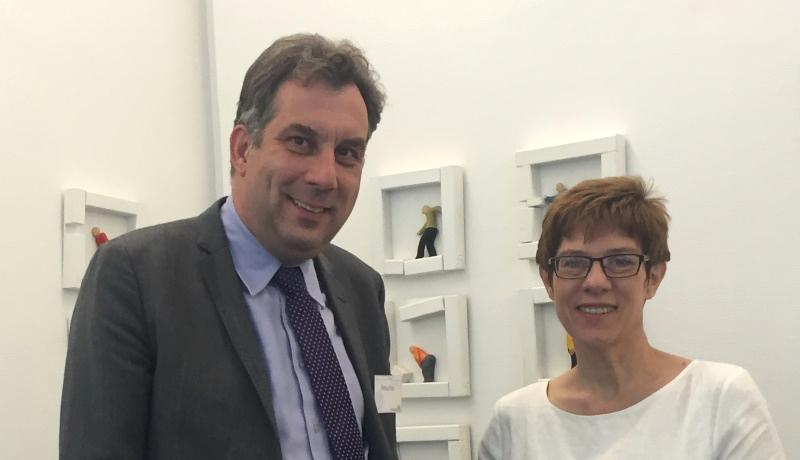 Gespräch mit Annegret Kramp-Karrenbauer - saarländische Ministerpräsidentin