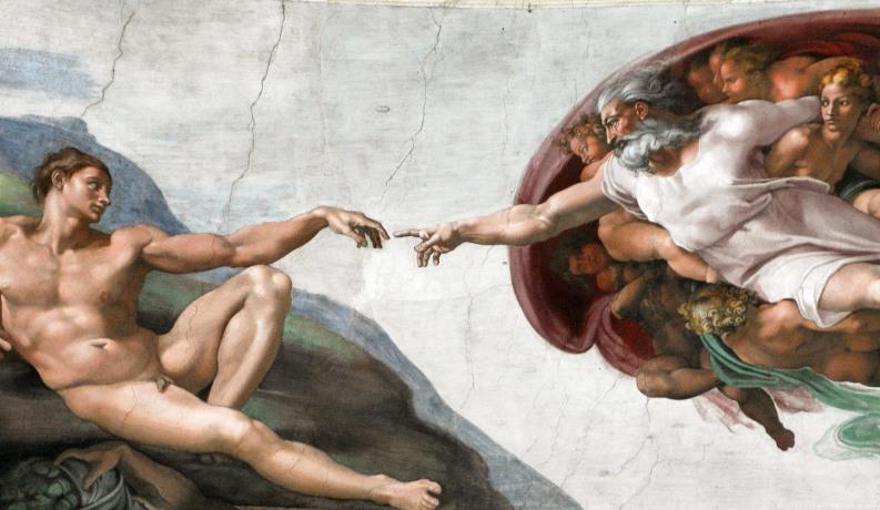 Die Erschaffung Adams, Gemälde von Michelangelo