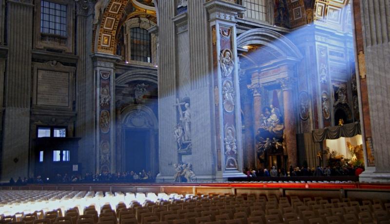 Lichtstrahl in einer Kirche
