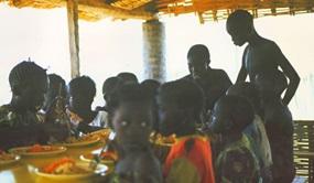 Mittagessen in Afrika