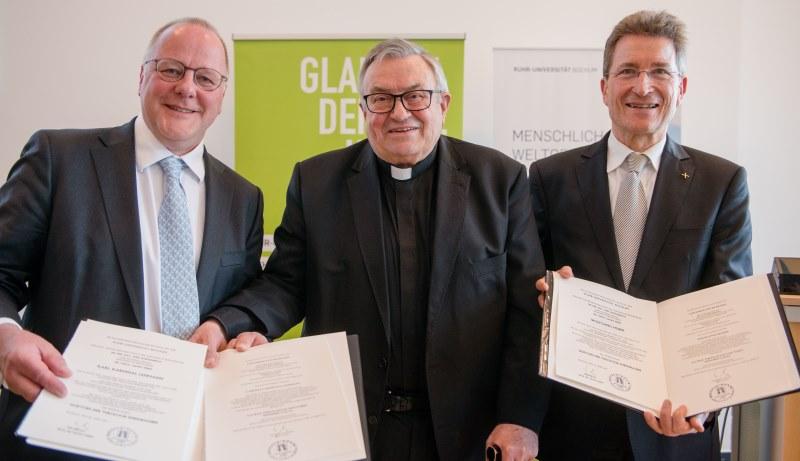 Ehrenpromotion für Wolfgang Huber und Karl Lehmann