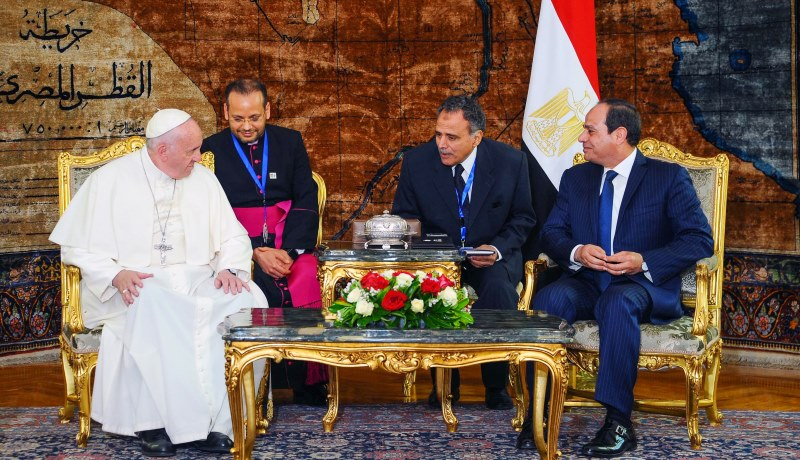 Papst Franziskus in Ägypten