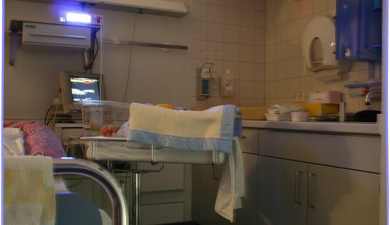 Säuglingsstation im Krankenhaus