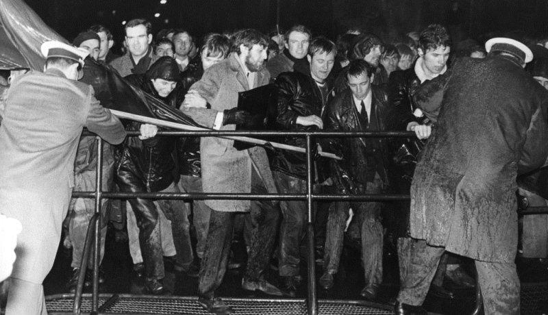 Studenten protestieren im Jahr 1968