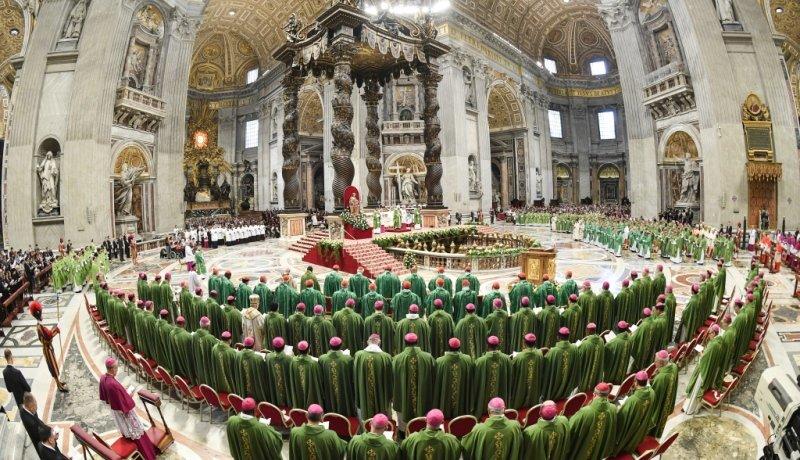 Abschlussgottesdienst im Petersdom nach Jugendsynode 2018