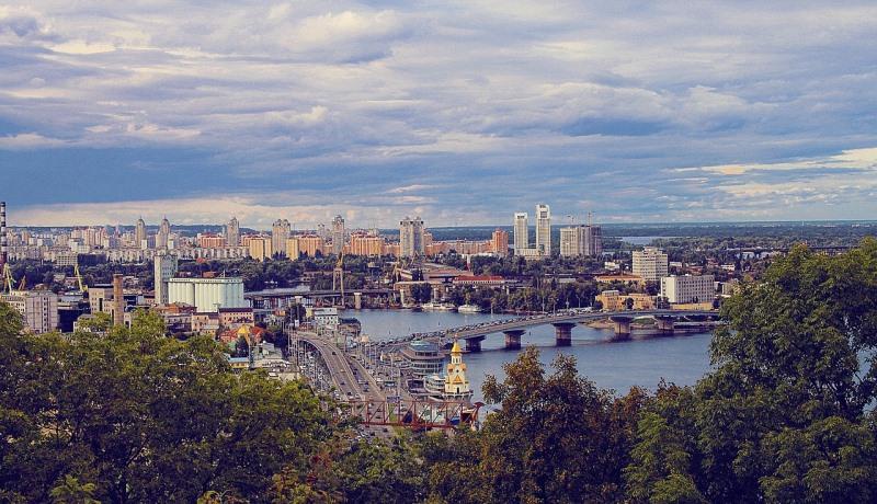 Blick auf Kiew