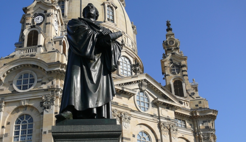 Luther-Statue in Dresden