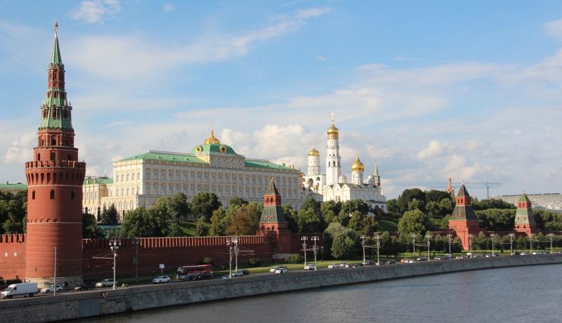 Blick auf Kreml in Moskau