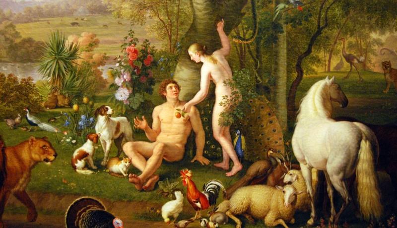 Adam und Eva vor dem Sündenfall
