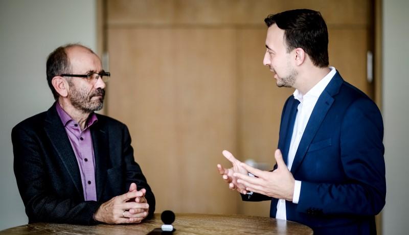 Manfred Rekowski und Paul Ziemiak im Gespräch
