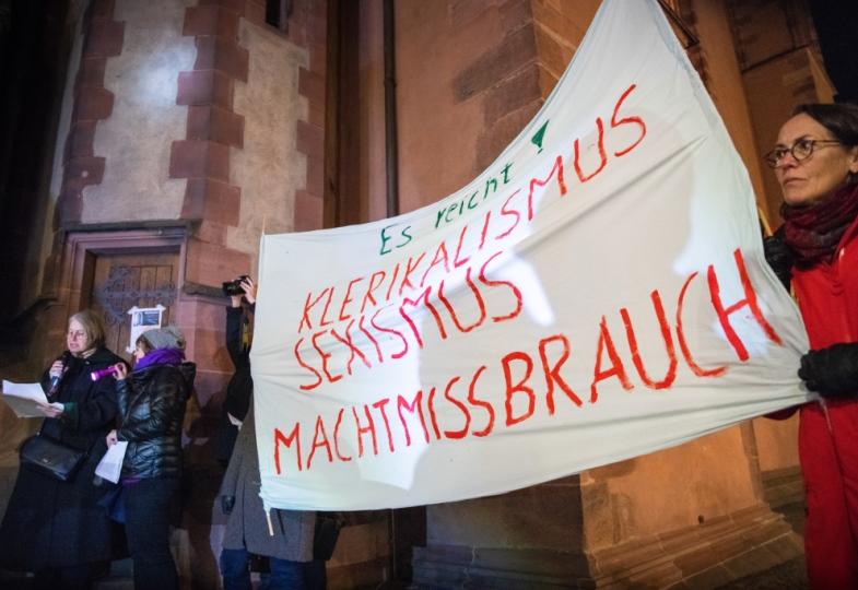 Demonstration gegen Machtmissbrauch in der Kirche