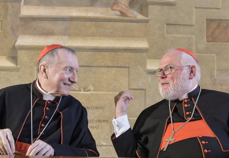 Kardinalstaatssekretär Pietro Parolin und Kardinal Reinhard Marx, Vorsitzender der Deutschen Bischofskonferenz (DBK), am 29. Mai 2019 in Rom.