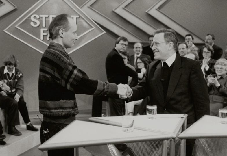 Eugen Drewermann und Walter Kasper in den Siebzigerjahren bei einer ZDF-Fernsehshow.
