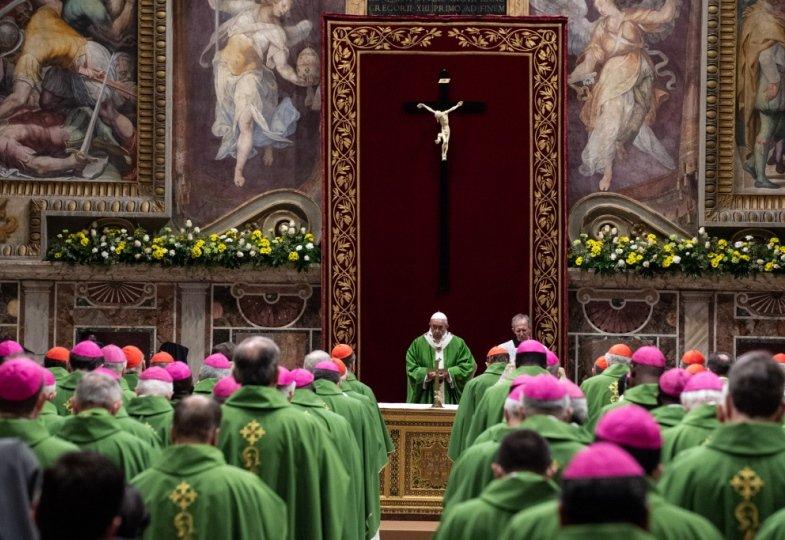 Abschlussgottesdienst des Missbrauchsgipfels in Rom mit Papst Franziskus.