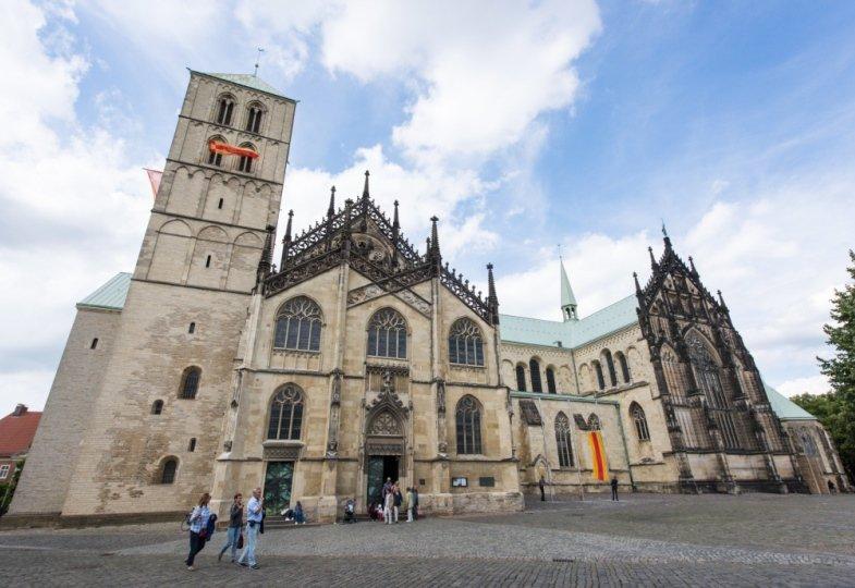 Blick auf den Dom St. Paulus in Münster.