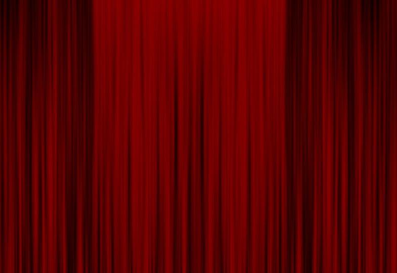 Roter geschlossener Vorhang