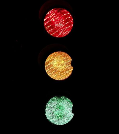 Leuchtende Ampel